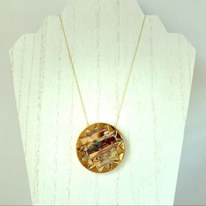 House of Harlow Abalone Starburst Pendant Necklace